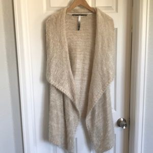 Fuzzy Draping Sweater Vest